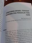 KEBUTUHAN DIFABEL TERHADAP AKSESIBILITAS PERADILAN YANG FAIRS (dimuat di JURNAL DIFABEL vOL. I/2014SIGAB)